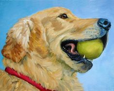 Dog Paintings (and Cat and Other Animals) by Dottie Dracos: Golden ...