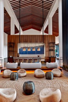 The lobby lounge brings the outside in with elements like water, sand and open-air. #Jetsetter