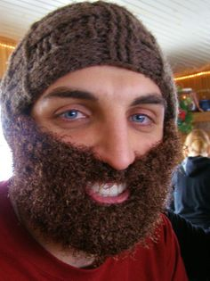 Manly Crochet Beard by littlelizalynn on Etsy, $20.00. This would be the perfect Christmas gift for the man in your life :)