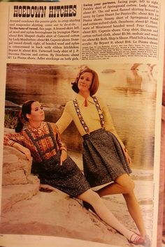 """Colleen Corby and Cybill Shepherd  (on right?)  Seventeen, August 1968,   Theme:  """"Hoedown Hitches"""""""