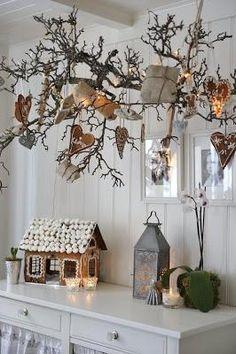 Decorazioni con le pigne per Natale...