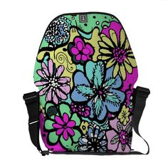 ROKIN Rickshaw ERMAHGERD FLOWER POWER Messenger Bag