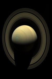 The planet Saturn, imaged in natural light by the Cassini Spacecraft on October 10th, 2013.