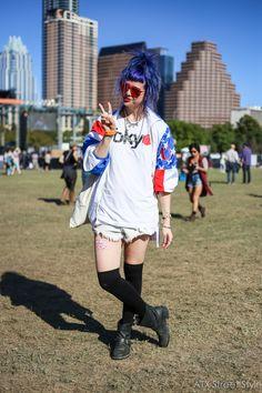 Shea Daspin, 25 Spotted at: Fun Fun Fun Fest 2015 Jacket: New Bohemia Tee…