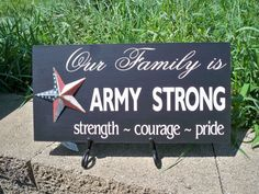 Army Strong sign with patriotic star by SimplySaidSayings on Etsy,