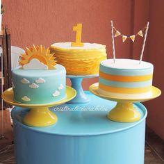 Trendy Baby Boy Birthday Party Ideas First Summer Kids Sunshine Birthday Parties, Boy Birthday Parties, Summer Birthday, Sun Cake, Sunshine Cake, Sunshine Baby Showers, Festa Toy Story, Baby Shower Cakes For Boys, Baby Girl Birthday