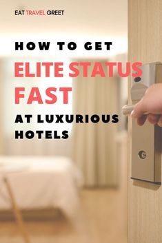 Find out how you can get an elite status fast at luxurious hotels to enjoy tons of lavish perks and benefits. Guaranteed your stay at a hotel will never be the same! Travel Advice, Travel Tips, Travel Hacks, Travel Ideas, Travel Packing, Travel Destinations, Boutique Hotels, Hotels And Resorts, Best Hotels