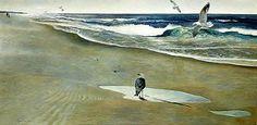 Andrew Wyeth: On the beach (1946)