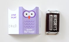 Owl candy wrap