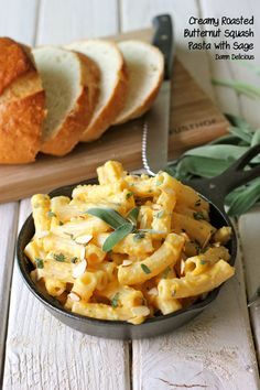 Creamy Roasted Butternut Squash Pasta with Sage