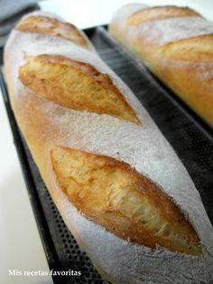 Mis recetas favoritas: Barras de pan francés con masa madre Bread Soup, Biscuit Bread, Pan Bread, Bread Machine Recipes, Bread Recipes, Cooking Recipes, Pav Recipe, Salty Foods, Sourdough Recipes
