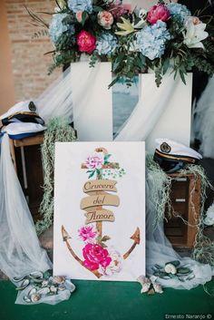 Carteles para tu boda #bodas #wedding #bodasnet #decoration #decoración #banquete #deco #handmade #flowers #temáticamarinera #bodatemática