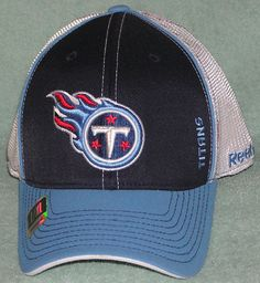 TENNESSEE TITANS REEBOK EMBROIDERED MESH BACK FLEX FIT CAP HAT NWT