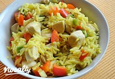 Currys rizs csirkemellel | Nosalty Croatian Recipes, Hungarian Recipes, My Recipes, Healthy Recipes, Kfc, Fried Rice, Pasta Salad, Main Dishes, Cabbage