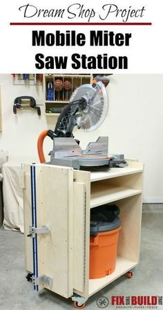 Dream Shop Project: Build this Mobile Miter Saw Station and add performance, mobility and flexibility to your workshop! #woodworkingtools