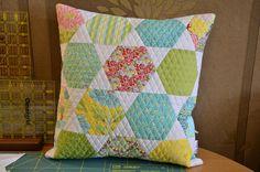 #pillows #patchwork #inspiration #hexagon #homedecor