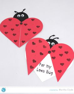Ladybug Valentine created with the Silhouette  CAMEO.