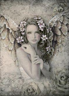 Primrose Print ~By The Vintage Angel