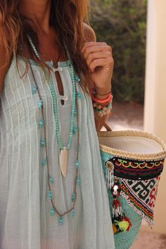 Those necklaces......Boho Summer Style