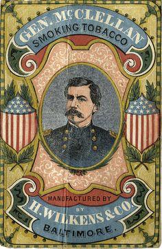 Gen. McClelland Smoking Tobacco