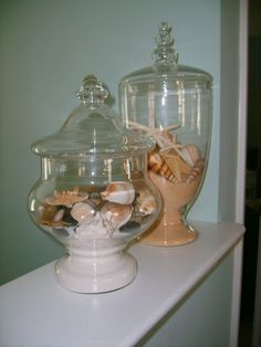 Seashore Decor. I did this without the sand. I like it with better.