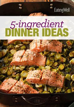 Chicken, pastas, pizza, fish and more healthy dinner recipes, all with only 5 ingredients!