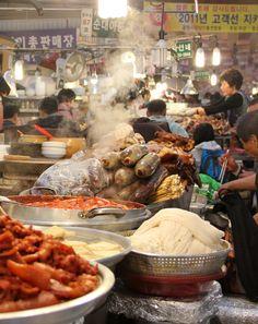 Gwangjang Market in Seoul - http://migrationology.com/2012/05/gwangjang-market-an-overwhelming-bounty-of-ambrosial-korean-food/