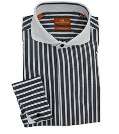 Steven Land Men's Striped Dress Shirt