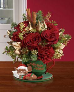 Christmas flower decor