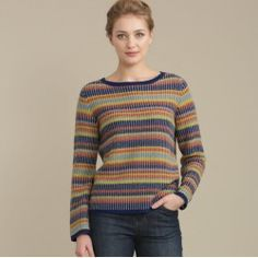 Beautifully soft jumper in a knit and colours inspired by Cornish baskets. In a merino and alpaca mix yarn, with a flattering boat neck and lovely easy fit. Looks great worn over chambray shirts.  In stock and available for fast dispatch from our shops in