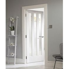 Curated By Jeld-Wen Internal White Primed Aston Clear Glass Door at Leader Doors Primed Doors, Mdf Doors, Panel Doors, Wood Doors, Barn Doors, Interior Glazed Doors, Interior Door Styles, Jeld Wen Interior Doors, Porch Interior