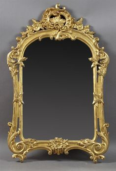 French Louis XV Style Gilt and Gesso Overmantel Mirror, 19th