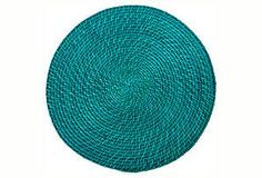 Round, rattan place mats