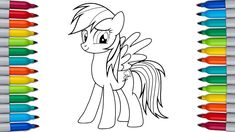 RAINBOW DASH Coloring Pages for Kids | MY LITTLE PONY Pj Masks Coloring Pages, Coloring Pages For Kids, Ice Bear We Bare Bears, My Little Pony Coloring, Rainbow Dash, Scooby Doo, Make It Yourself, Coloring Pages For Boys, Coloring For Kids