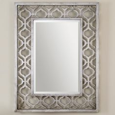 Silver Arabesque Frame Mirror
