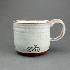 Blue Ceramic Mountain | bike mug