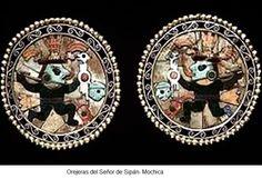Orejeras del Señor de Sipan  Mochica  Peru