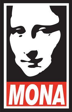 OBEY Mona [Min SimanKeVicius] (Gioconda / Mona Lisa)