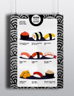 sushi take away on Behance