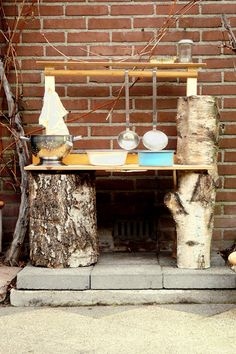 cool mud kitchen from Kiind Magazine