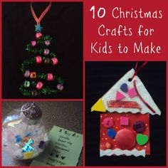 10 Easy Christmas Ornaments for Kids to Make. My tree is going to look great!