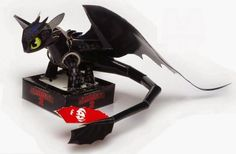 How To Train Yor Dragon 2 - Thootless Paper Model - by Tos Craft - == -   From How To Train Your Dragon 2 animation, here is Thootless, in a very well done papercraft version created by Indonesian designer Tosan Aji, from Tos Craft website.