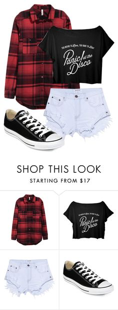 """Untitled #404"" by cuteskyiscute on Polyvore featuring OneTeaspoon and Converse"