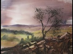 Watercolour landscape painting demonstration featuring Dartmoor scene