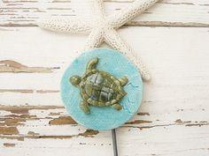 Turtle plant marker sea life ocean stake poke yard ornament #SpecialTGIF
