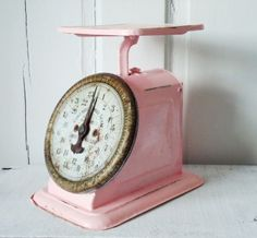 Retro Up Cycled Kitchen Scale in Cotton Candy Pink ... I need this!