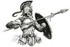 Pictures of spartan warrior tattoo drawing - Tattoo Sketches, Tattoo Drawings, Body Art Tattoos, Art Sketches, 3d Tattoos, Gladiator Tattoo, Guerrero Tattoo, Warrior Tattoos, Warrior Tattoo Sleeve
