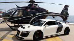 Audi R8 & Hellicopter...yes please