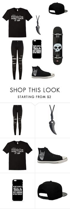 """Untitled #106"" by darksoul7 ❤ liked on Polyvore featuring New Look, Converse and '47 Brand"