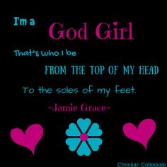 Jamie grace god girl lyrics on this canva